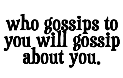 Gossip: the poison words